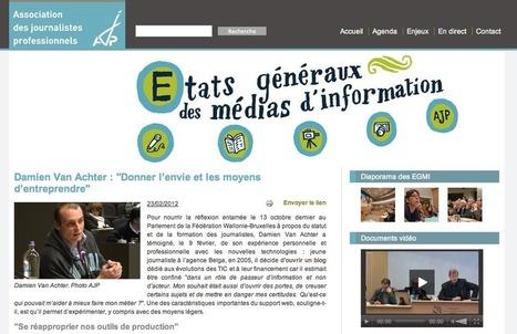 Mon audition aux Etats Généraux des Médias d'Information | Damien Van Achter | Divers 2.0. | Scoop.it