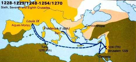 Map: Sixth, Seven, and Eighth Crusades. | Las Cruzadas | Scoop.it