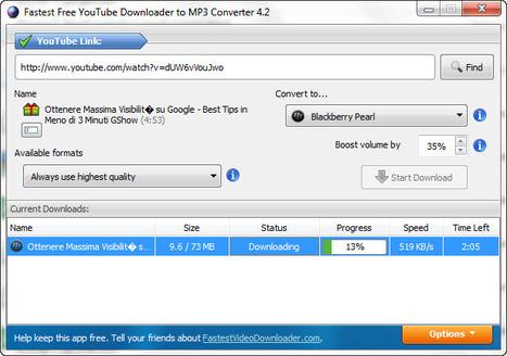 Scaricare e Convertire Video Da YouTube: Fastest Free YouTube Downloader | ConvertireVideo | Scoop.it