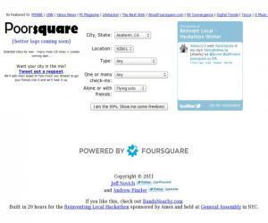 Poorsquare - ProgrammableWeb Mashup Detail | Geotechnobabble | Scoop.it