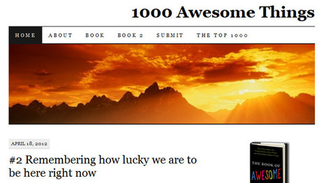 1,000 Awesome Things writer winding down beloved blog | CTV News | The Writing Wench | Scoop.it