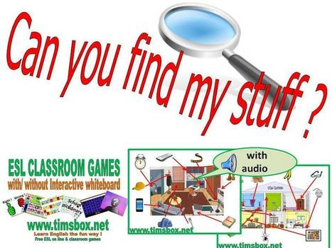CLASSROOM GAMES - Can you find my stuff ? | Teaching English ESL - Ressources anglais -timsbox | Scoop.it