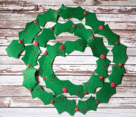 Tutorial: Felt holly garland Advent calendar | Bazaar | Scoop.it