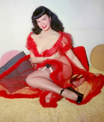 Bettie Page In Sheer Red Lingerie | Sex History | Scoop.it