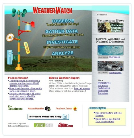 Learning Never Stops: 9 Wonderful Weather Websites for kids | New Web 2.0 tools for education | Scoop.it