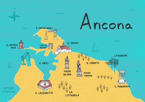 Map of Ancona by Kristen Boydstun Le Marche a