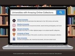 10 Universities with Amazing Online Collections -   Evolutions des bibliothèques et e-books   Scoop.it