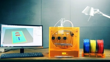 Nix : une imprimante 3D couleur à seulement 865 € | FabLab - DIY - 3D printing- Maker | Scoop.it