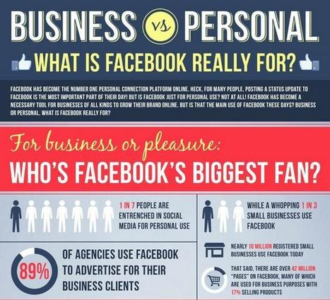 Business or personal: What is Facebook for? | Best Infographics on the Planet | World's Best Infographics | Scoop.it