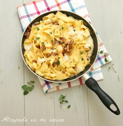 Atrapada en mi cocina: PASTA AL HUEVO CON GORGONZOLA Y ... | Una vuelta por Italia a travéz de la pasta | Scoop.it