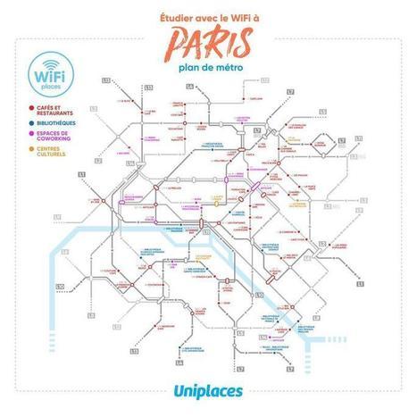 La carte des lieux où étudier avec le Wi-Fi à Paris | Médiations numérique | Scoop.it