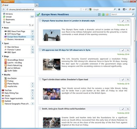 Brief 2.0: a redesigned newsreader for Firefox | François MAGNAN  Formateur Consultant | Scoop.it