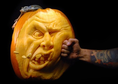 "The Coolest Pumpkins of the Year: Realistic 3D Carvings by Ray Villafane | ""#Google+, +1, Facebook, Twitter, Scoop, Foursquare, Empire Avenue, Klout and more"" 