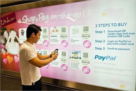 PayPal QR Code Virtual Stores In The Subway | Infography | Scoop.it