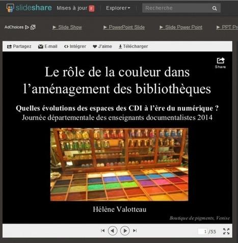 Hélène Valotteau : Le rôle de la couleur dans l'aménagement de bibliothèques   PoleDocumentation CDDP Charente   Caisse à outils   Scoop.it