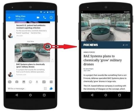 Facebook Instant Articles débarque dans Facebook Messenger | Le Social Media par ChanPerco | Scoop.it