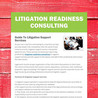 litigation readiness consulting