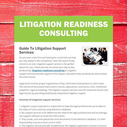 litigation readiness consulting | litigation readiness consulting | Scoop.it