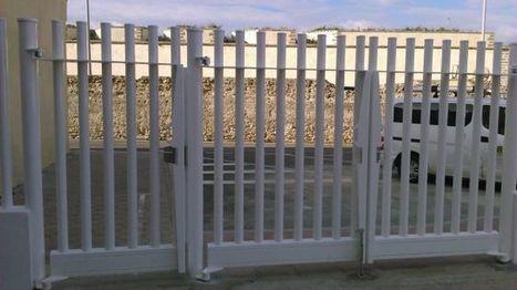 como son las puertas metlicas para vallas