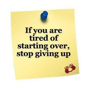 Give Up Giving Up! | catnipoflife | Scoop.it