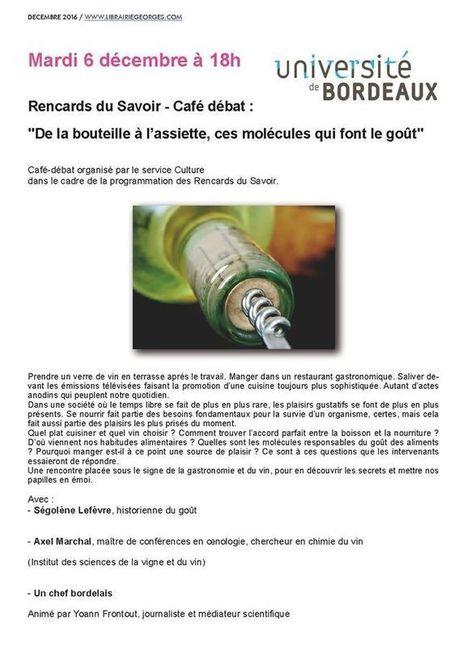 De la bouteille à l'assiette, ces molécules qui font le goût - cepdivin.org - les imaginaires du vin | World Wine Web | Scoop.it