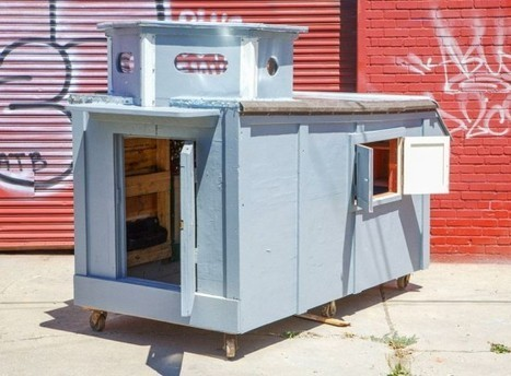Kindhearted Artist Turns Trash into Tiny Mobile Homes for the Homeless | Strange days indeed... | Scoop.it