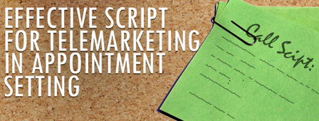 Why Creating An Effective Script For Telemarketing In Appointment Setting Is Recommended   Telemarketing and it's benefits   Scoop.it