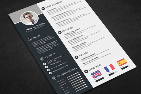 Best Resume Templates in 2015 ( .Docx . Psd ) | Scoop.it