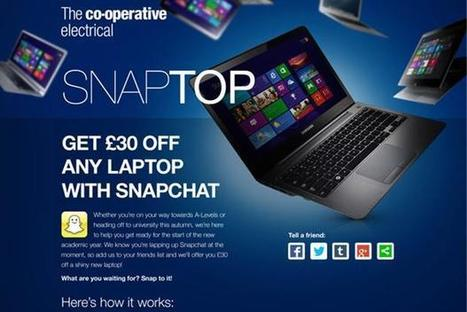 Co-op claims retail 'first' with Snapchat campaign | Marketing Magazine | Retail | Scoop.it