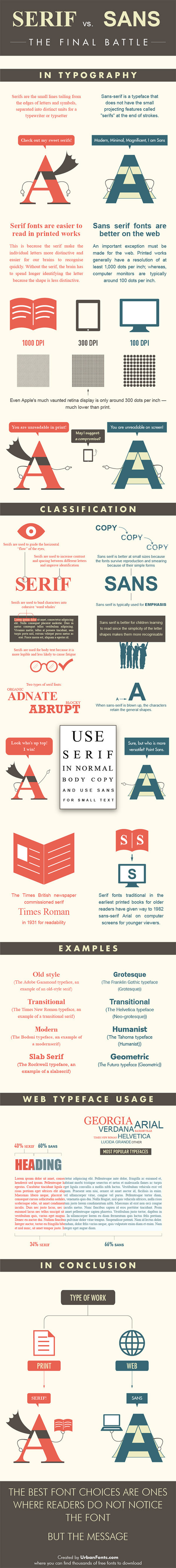Serif vs Sans: The Final Battle In Typography [Infographic] | ComeStilVuole | Scoop.it