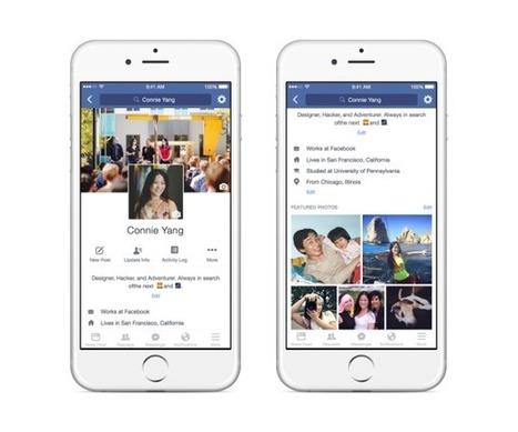 Nouveaux profils Facebook : vidéo de profil, photo temporaire, bio Facebook, nouveau design... - Blog du Modérateur | Veille Etourisme de Lot Tourisme | Scoop.it