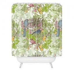 69 x 72 Deny Designs Raven Jumpo Drinking Mugs Shower Curtain