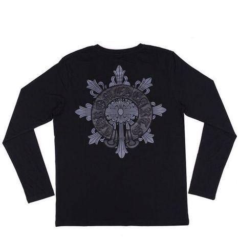 7fe73473b8f3 Chrome Hearts Leather Horseshoes Cross Long Sleeves Long Sleeves T-shirt  Chrome  Hearts Long T-shirt  -  169.00   Chrome Hearts Sale