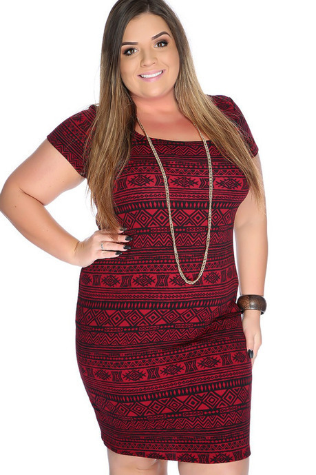 e03694610cb Trendy Plus Size Women s Casual Dresses at Discounted Prices
