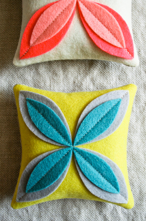 Felt Flower Sachets - the purl bee | Du fait main & some handmade | Scoop.it