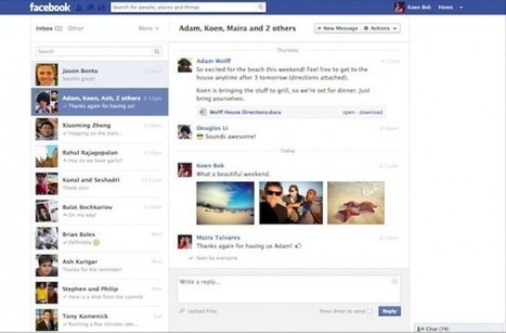 La Nouvelle Version de Facebook Messages Arrive | Facebook…et ses techniques | Scoop.it