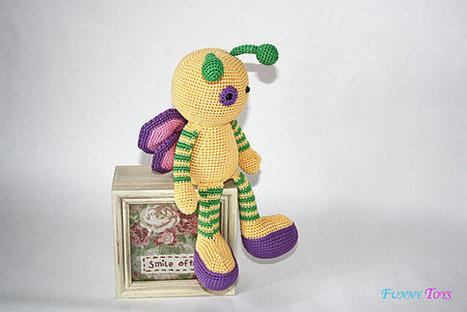BUTTERFLY Crochet tutorial PDF file | Bazaar | Scoop.it