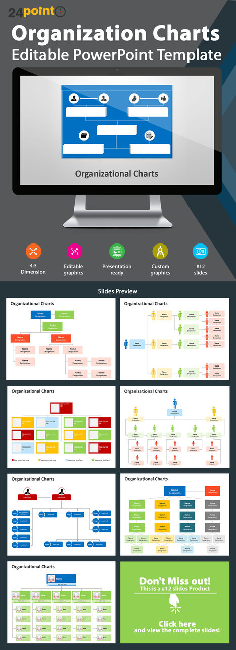 Organization Charts: Editable PowerPoint Template   PowerPoint Presentation Tools and Resources   Scoop.it