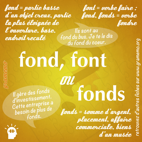 Gramemo » Fond, fonds ou font | POURQUOI PAS... EN FRANÇAIS ? | Scoop.it