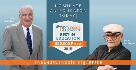 Nominate an educator for the $20,000 Best in Education Prize! (sorry Canada - U.S.only) @Best_Schools | Online Education to Virtual conferences | Scoop.it
