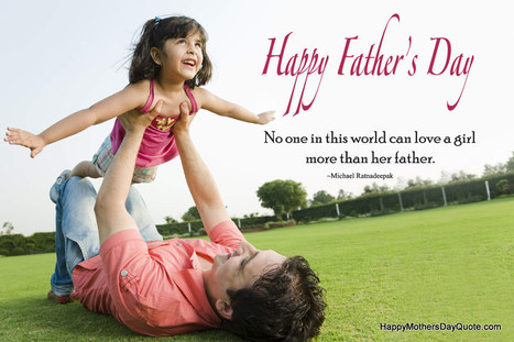 Beautiful Happy Fathers Day Quotes Pic Saying
