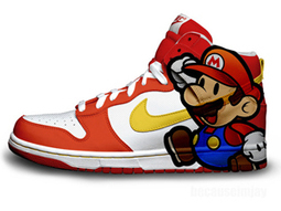 585f00bfc714 Japanese Video Game Super Mario Sneakers Nikes  super-mario-shoes-1012  -   79.00   DC Comic Dunks