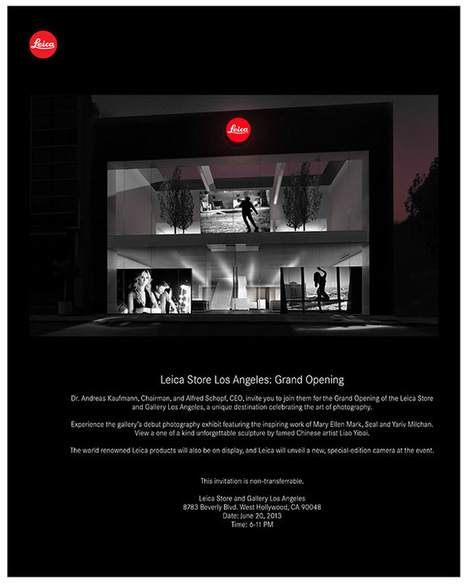 Leica Store Los Angeles Grand Opening this Month! - Steve Huff Photo | Leica M Photography | Scoop.it