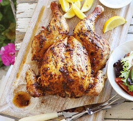 Mustard-glazed roast chicken with Waldorf stuffing ~ Parsley Patch | Cool Sites I love | Scoop.it