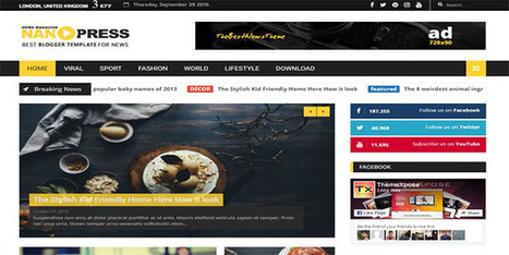 Nanopress News Blogger Template | Blogger themes | Scoop.it