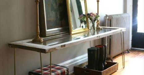 Entryway Table from Old Glass-Paned Door | Upcycled Objects | Scoop.it