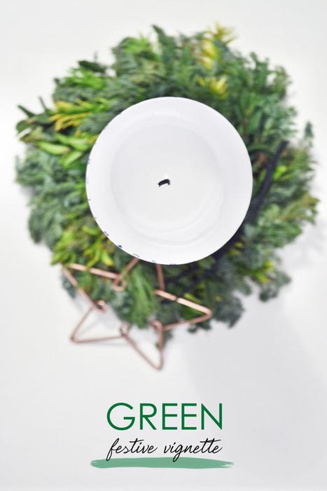 Happy Interior Blog: Urban Jungle Bloggers: Green Festive Vignette   Interior Design & Decoration   Scoop.it