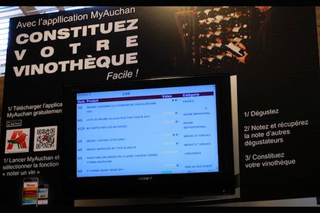 Auchan teste une application communautaire de notation des vins | Tag 2D & Vins | Scoop.it