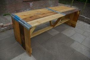Industriele robuuste eettafel roots by woodindustries jouw