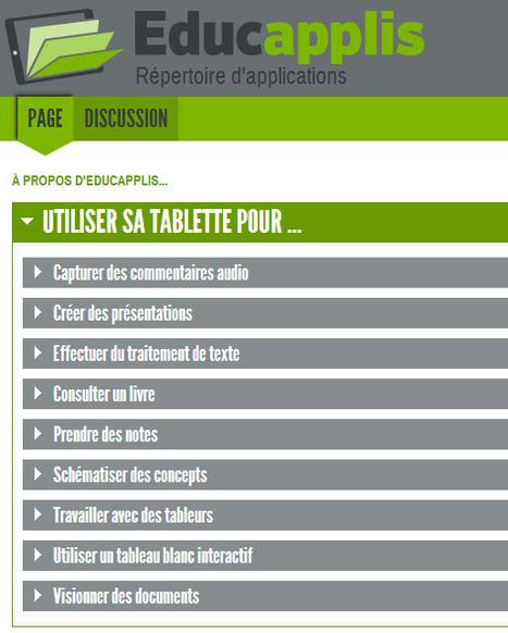 Educapplis : répertoire d'applications pour tablettes classées par compétence | TICE & FLE | Scoop.it
